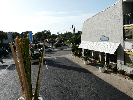 Palmetto Shores Oceanfront: parking across the road