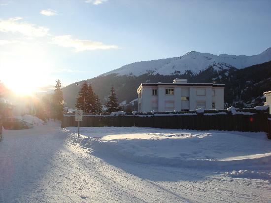 Langlaufloipe Dischma Richtung Davos