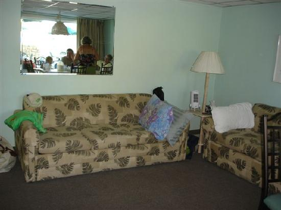 Wildwood Crest, NJ: living room with one queen sleeper sofa