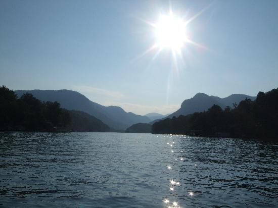Lake Lure at sunset