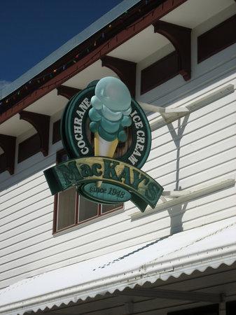 MacKay's Cochrane Ice Cream Ltd: Sign detail