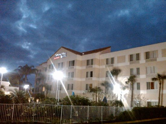 SpringHill Suites Port St. Lucie: Evening sky over the hotel
