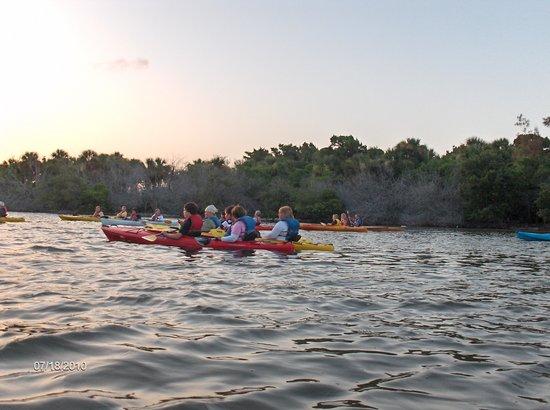A Day Away Kayak Tours : Just at sunset on kayak trip