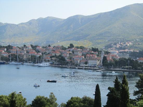 Hotel Croatia Cavtat : vu de la terrasse du restaurant