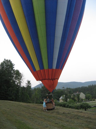 Balloons of Vermont - Private Flights: Safe landing, what a flight!