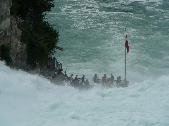 Neuhausen, Swiss: The Rhine Falls - observation platform
