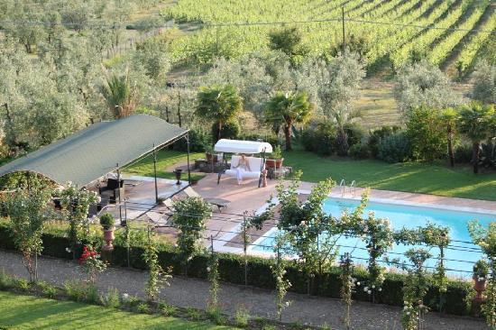 Picture from Villa to me on love swing with Villa Marcellinis Vino! very relaxing