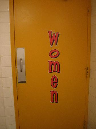 Auburn, AL: The back of the Men's room door as you are walking out, just that kind of funny place!