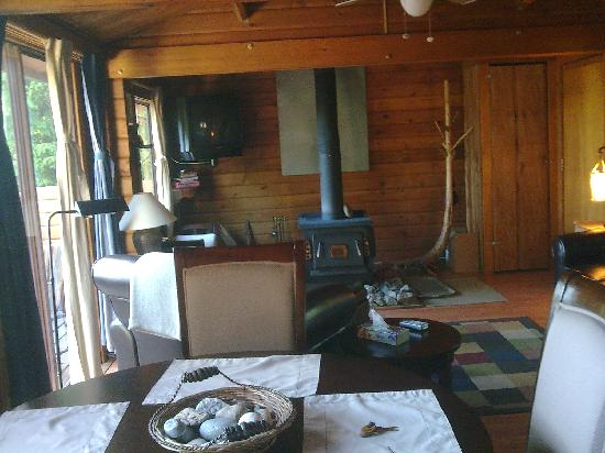 Horizons West: the living room of our cabin