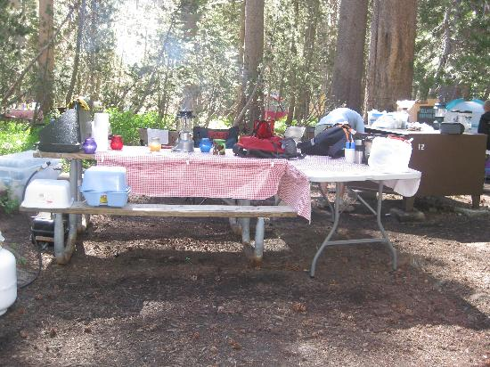 White Wolf Campground: Our campsite