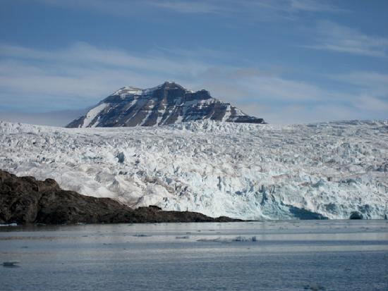 Pyramiden: Der Nordenskiöld-Gletscher