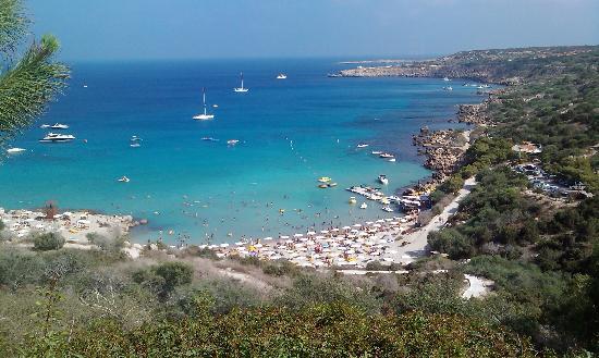 Grecian Park Hotel : View of Konos Bay from Grecian Park