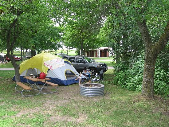 Orchard Beach State Park: campsite