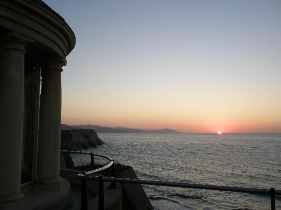 Zumaia, İspanya: Zelai patio sunset