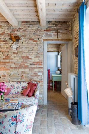 Villa Giulia: An apartment's living room