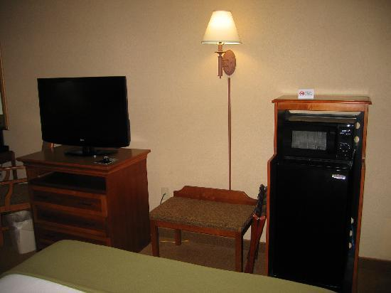 Holiday Inn Express & Suites Florence I-95 & I-20 Civic Ctr: TV, microwave, and refrigerator