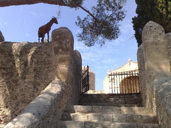 Pollenca, Spanien: Entrance to the Monastery at Puig de Maria