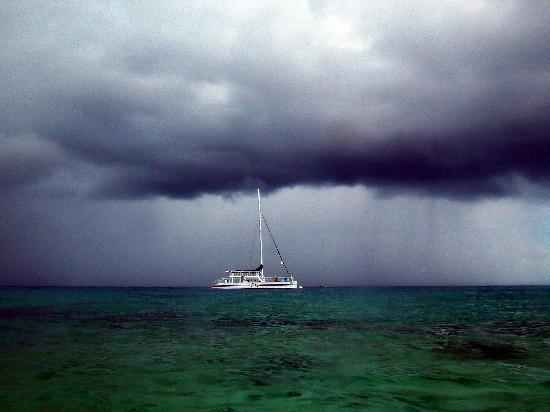 El Cozumeleno Beach Resort : Storm rolliing in at Sunset Beach.