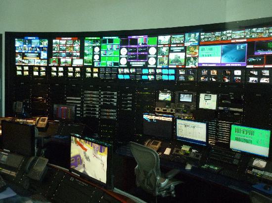 Newseum: Control room for museum