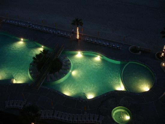 Sonoran Sun Resort: pool at night from unit SW 1007