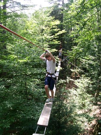 Adirondack Extreme Adventure Course: Another obstacle