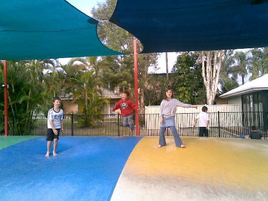 NRMA Treasure Island Holiday Resort : The jumping pillow was 4 times the size shown. Big enough for adults to remember how to have fun