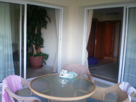 Nahrawess Hotel : vue des 2 pièces