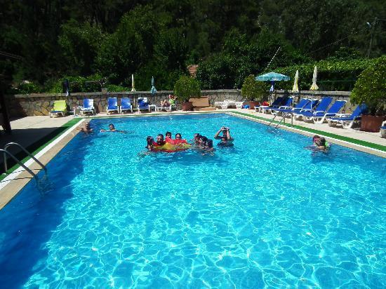 Canada Hotel Cirali Olympos: Animando a nuestra selección en la piscina