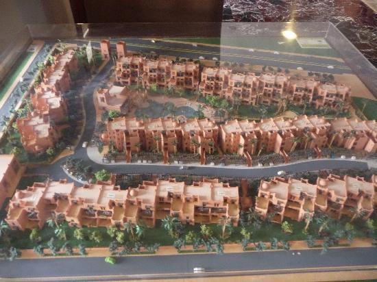Residence Al Qantara : Maquette de la résidence