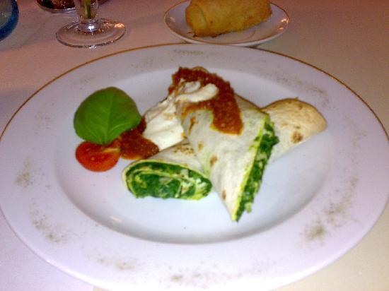 Perla Hotel: Spinach pancakes, superb!