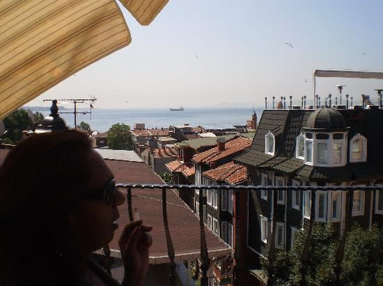 Osmanhan Hotel: Bosporus as seen from the roof