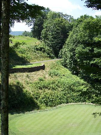 Raven Golf Club: #3 par 3.  Big drop!