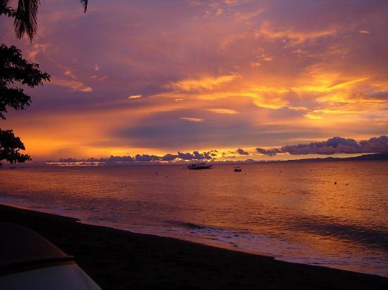 Dauin, Philippines : Sonnenuntergang