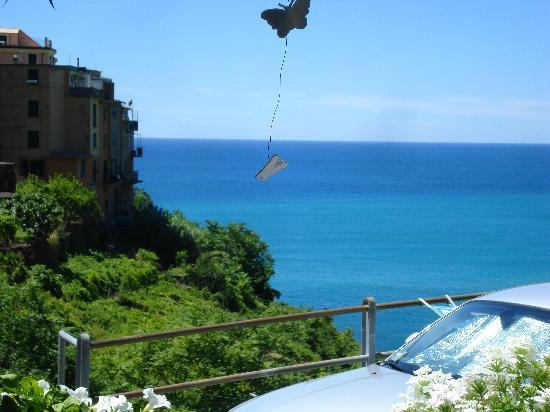 Corniglia, Italy: view from my seat in the garden
