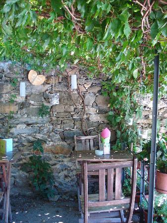 Corniglia, Italy: a table close to ours