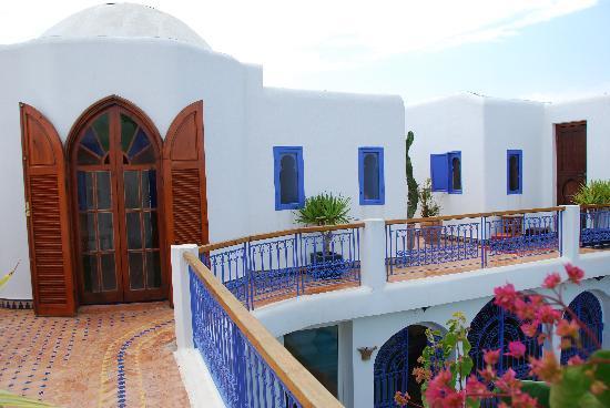 Bouznika, Maroc : Notre chambre avec sa terrasse