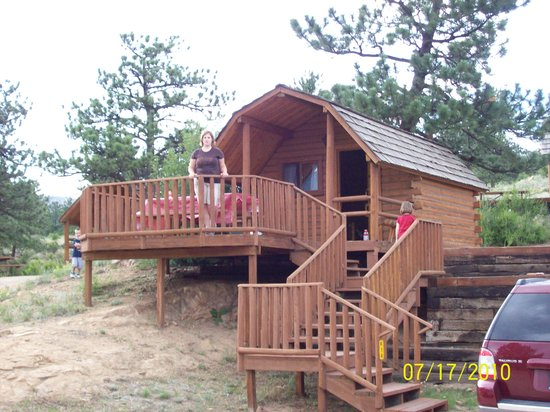 in jack jacks co estes by park cabins cabin s log creekside