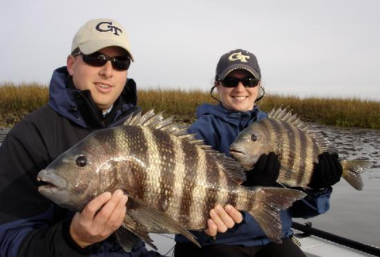 Winter sheepshead fishing picture of off the hook for Off the hook fishing charters