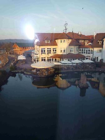 Niedernberg, Germany: Blick aus dem Zimmer auf den See