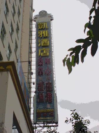 Vienna Hotel Huizhou Maidi: 天悦ホテルの横からすでにこれが見えます。