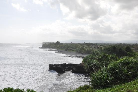 Soori Bali: taken from the top of a rock next to the hotel