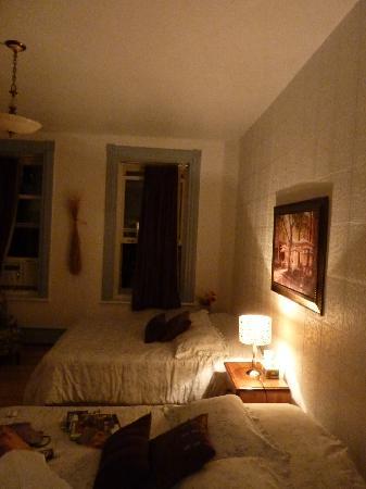 Notre chambre au gîte Chez Marie-Claire (1er étage)