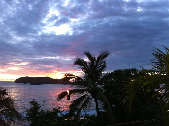 Club Med Ixtapa Pacific: A scene from the steps of the dining hall at sundown...