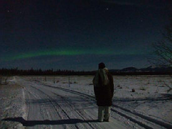Whitehorse, Canada: 一番見えてる時は撮り逃しました・・・