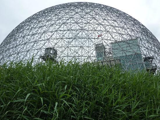 C C Cherrier: La biosphère sur la parc Jean Drapeau