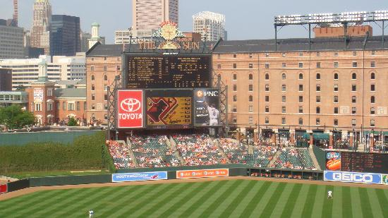 Oriole Park at Camden Yards: Looking out toward centefield