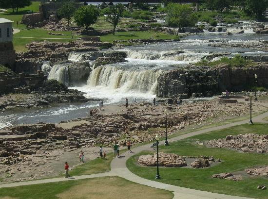 Sioux Falls, SD: View of the falls