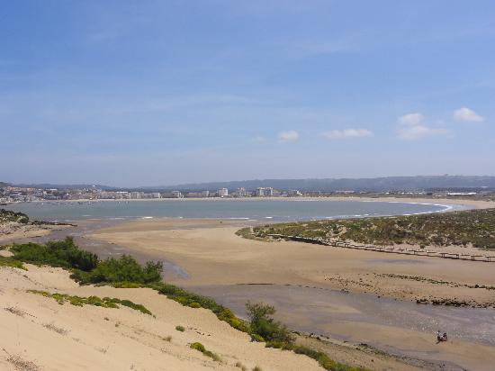 São Martinho do Porto, Portugal: View of Sao Martinho from Dunes