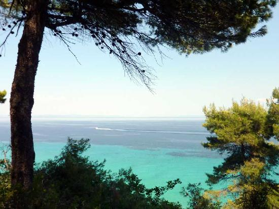 Nostos Hotel: view of the Gulf of Halkidiki from the hotel