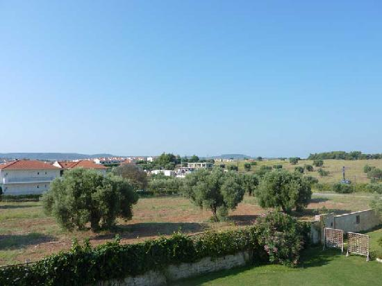 Nostos Hotel: View from the room on the west block
